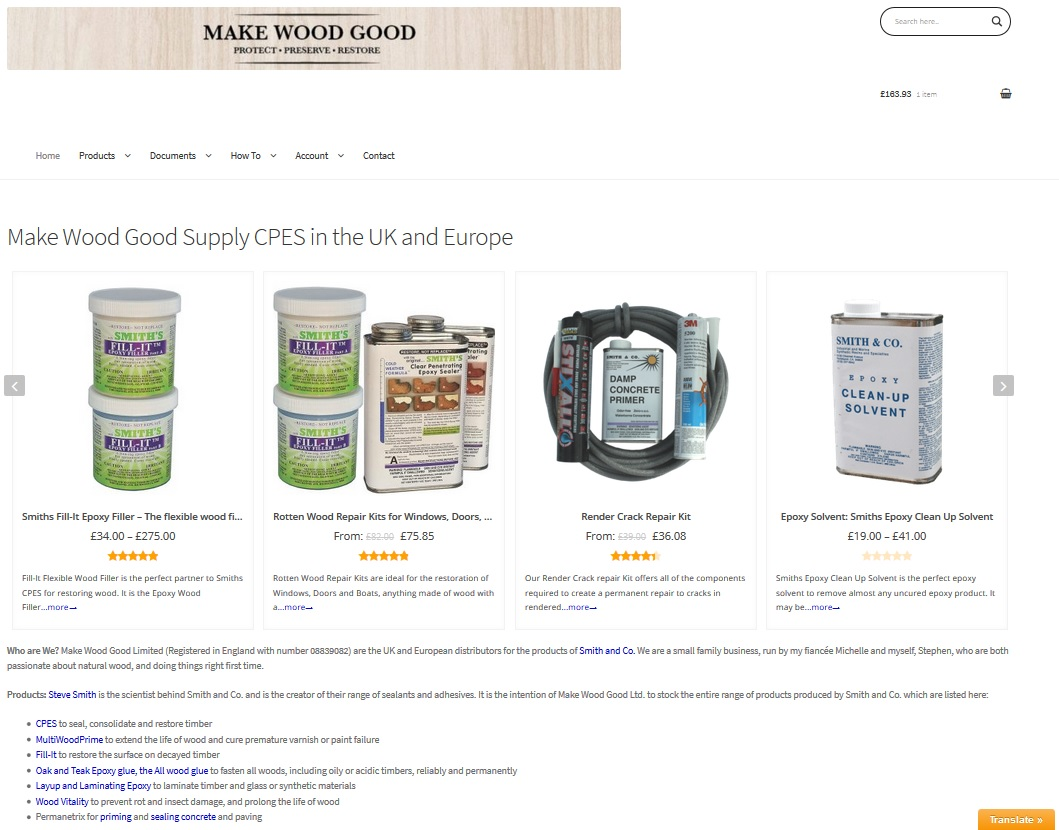 makewoodgood ecommerce website cpes uk europe